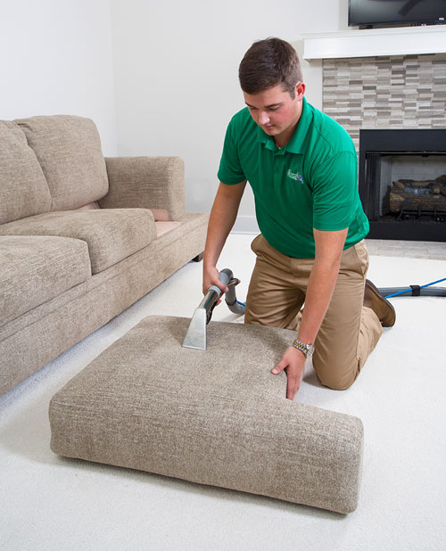 Chem-Dry of New Port Richey Technician providing professional upholstery cleaning services