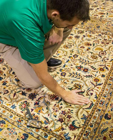 Chem-Dry of New Port Richey Technician Provinding Professional Area and Oriental Rug Cleaning