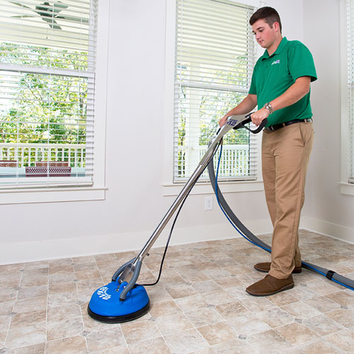 Chem-Dry of New Port Richey Technician Providing Professional Stone, Tile and Grout Cleaning